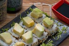 Avocato-Rollen-Japan-Lebensmittel Stockfotografie