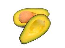 Avocatofrucht lokalisiert auf weißem Hintergrund Stockfotos