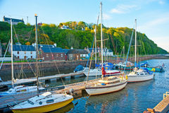 Avoch harbor, Black Isle, Inverness-shire. Stock Image