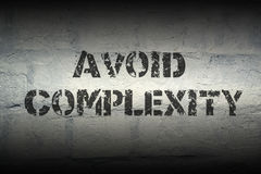 Avoid complexity GR Stock Photos