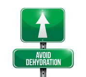 Avoid dehydration ahead road sign Royalty Free Stock Images