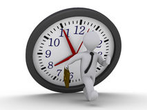 Avoid the falling clock deadline Stock Photo
