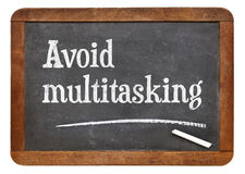 Avoid multitasking advice Royalty Free Stock Photo