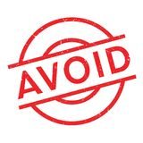 Avoid rubber stamp Stock Photo