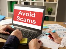 Free Avoid Scams Is Shown On The Conceptual Business Photo Royalty Free Stock Photos - 189685618