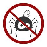 Avoid Spider Sign Isolated royalty free illustration