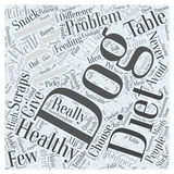Avoid Table Scraps in Your Dogs Diet word cloud concept  background Stock Photo