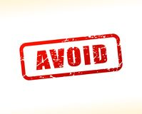 Avoid text buffered. Illustration of avoid text buffered on white background Royalty Free Stock Image
