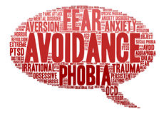 Avoidance Word Cloud Royalty Free Stock Image