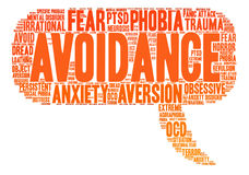 Avoidance Word Cloud Royalty Free Stock Photography