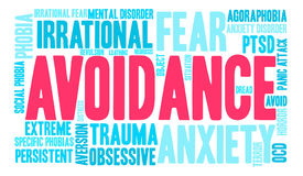 Avoidance Word Cloud Royalty Free Stock Images