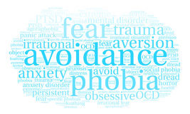 Avoidance Word Cloud Stock Images