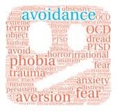 Avoidance Word Cloud Stock Image