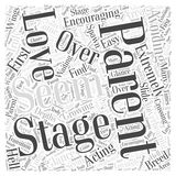Avoiding Acting Like an Overbearing Stage Parent word cloud concept vector background Stock Photo
