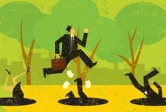 Avoiding Business Pitfalls Royalty Free Stock Image