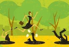 Avoiding Business Pitfalls Stock Photos
