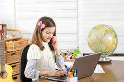 Avoiding homework Royalty Free Stock Photography