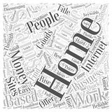 Avoiding Work at Home Employment Scams word cloud concept  background Royalty Free Stock Photo