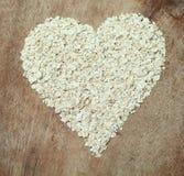 Avoine saine de nourriture de coeur Image libre de droits