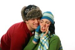 avoir heureux d'amusement de couples Images stock