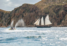 Avoir l'amusement dans Cabo Photos stock