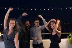 Avoir l'amusement et danse à la partie Photographie stock libre de droits