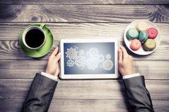 Avoir la pause-café photo libre de droits