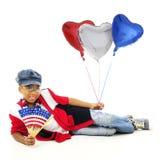 Avoir le coeur pour les Etats-Unis Image stock