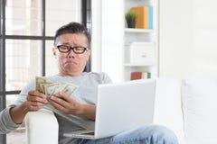 Avoir le problème financier Images libres de droits
