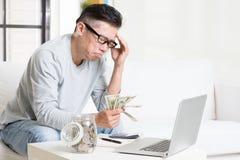 Avoir le problème financier Photographie stock libre de droits