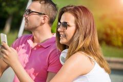 Avoir le week-end dans le parc d'été Image libre de droits