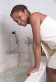 Avoir un bain Photographie stock libre de droits