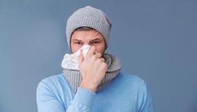Avoir un rhume image stock