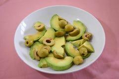 avokado och oliv Arkivfoton