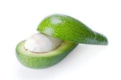 Avokado som isoleras på en vitbakgrund Royaltyfri Fotografi