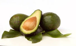 Avokados and avokado section Royalty Free Stock Image