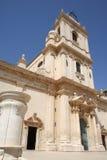 Avola-The cathedral. Southern Italy-Avola, near Siracusa-The cathedral of Avola-Avola is famous for the black wine of Avola Stock Photos