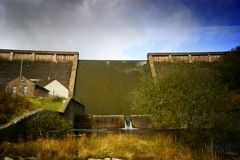 Avon dam dartmoor national park stock image