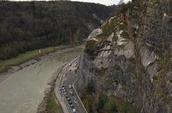 Avon Gorge. The Avon Gorge, on the River Avon in Bristol, England Stock Photos