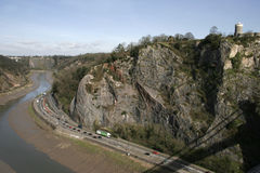 Avon Gorge and Clifton Observatory Stock Photography