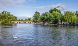 Avon-Kanal, Stratford nach Avon, William Shakespeare-` s Stadt, West Midlands, England lizenzfreie stockfotografie