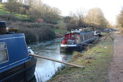 Avon & Kennet canal narrow boats Royalty Free Stock Photography