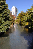 Avon River in Autumn, Christchurch New Zealand Stock Photo