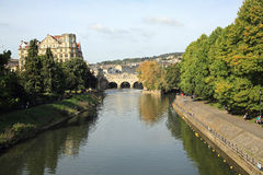 Avon River in Bath, England Royalty Free Stock Image