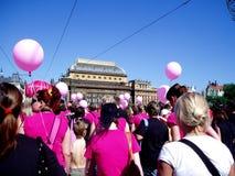 Avon walk in Prague Stock Photo