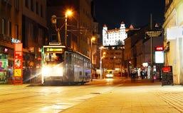 Avond Bratislava Royalty-vrije Stock Foto