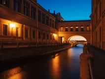 Avond heilige-Petersburg, Rusland Royalty-vrije Stock Foto's
