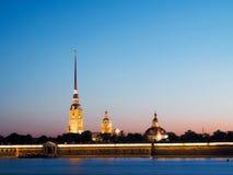 Avond heilige-Petersburg Witte nachten Royalty-vrije Stock Foto's