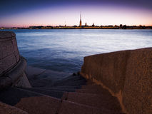 Avond heilige-Petersburg Witte nachten Royalty-vrije Stock Afbeeldingen