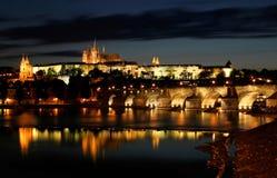 Avond Praag. Stock Fotografie